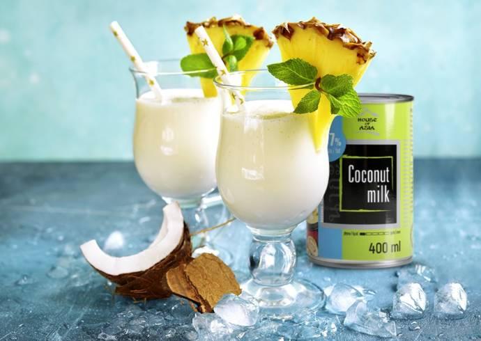 Pina Colada z mleczkiem kokosowym