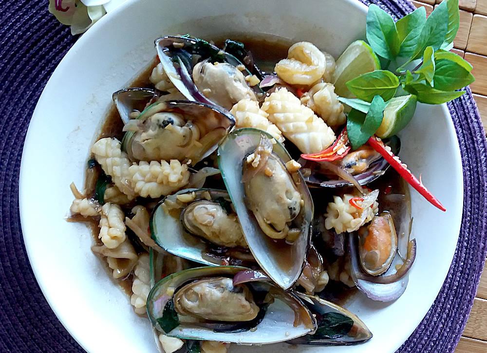 owoce morza po tajsku