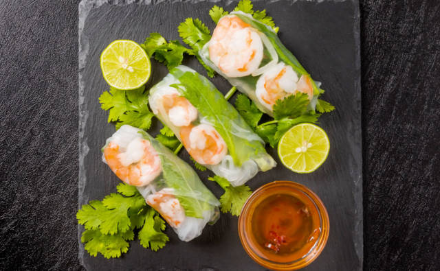 Warzywne spring rolls z krewetkami House of Asia