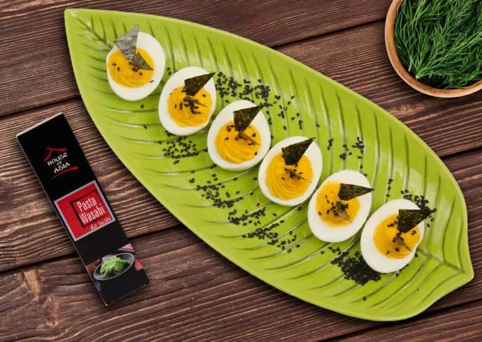 Jajka faszerowane z pastą wasabi House of Asia