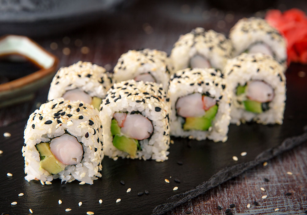 California maki z krewetkami i awokado House of asia