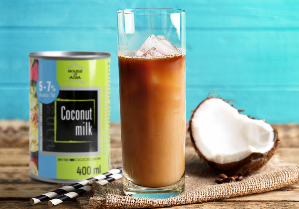 Mrożona kawa z mlekiem kokosowym house of asia