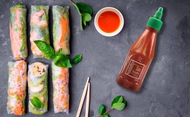 Wegańskie spring rolls z tofu House of Asia