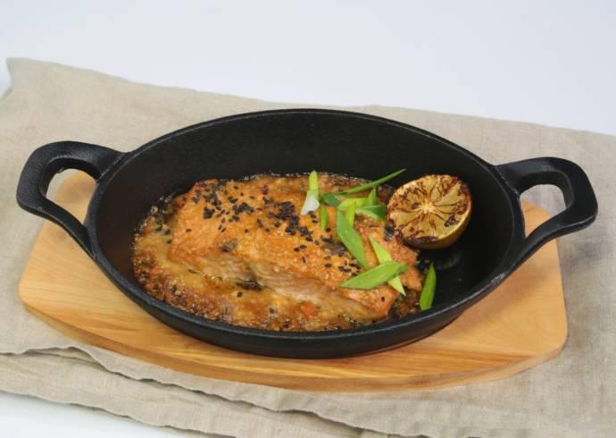 Łosoś w sosie miso wasabi House of Asia