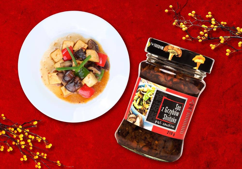Tofu smażone z sosem grzybowym House of Asia
