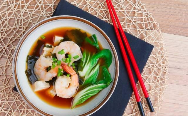 Zupa miso z krewetkami House of Asia