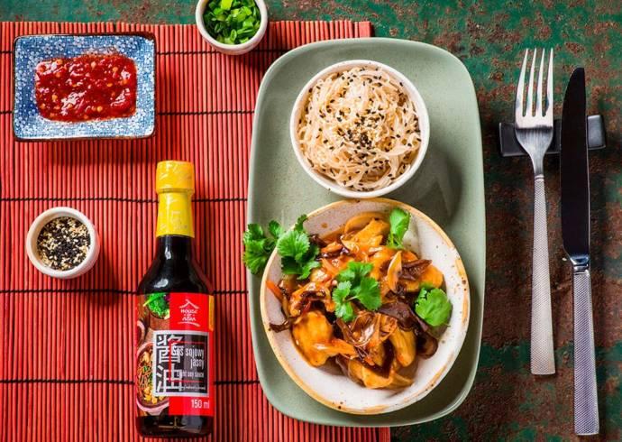kurczak w sosie miodowo czosnkowym house of asia