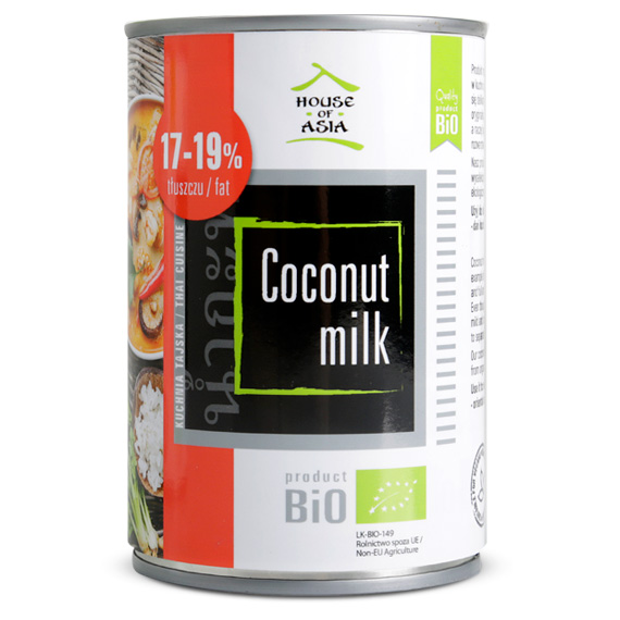 Mleczko kokosowe BIO 17-19% 400 ml house of asia