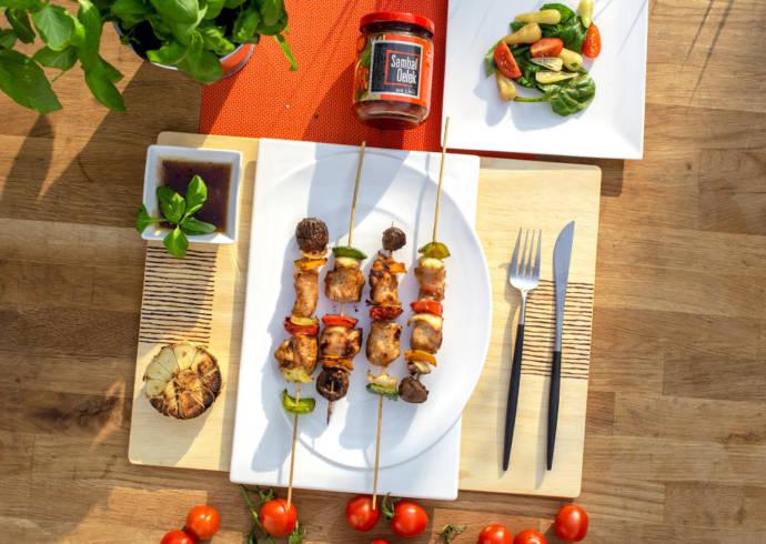 Szaszłyki z kurczaka z warzywami House of Asia