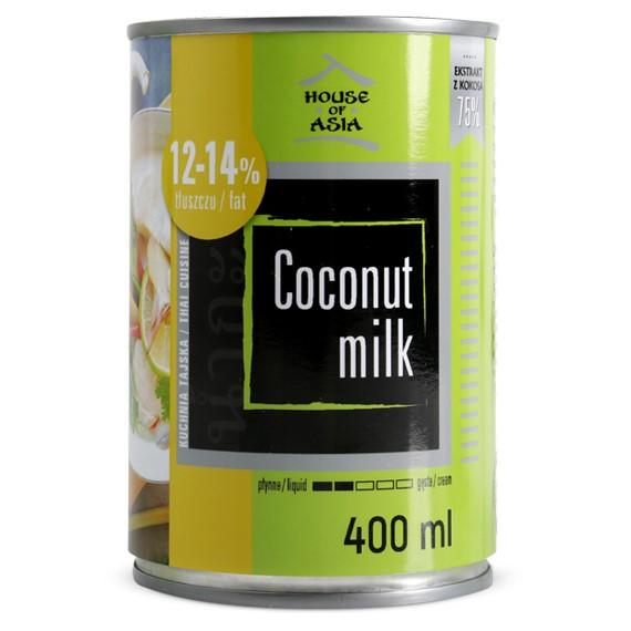 Mleczko kokosowe 12-14% 400 ml house of asia