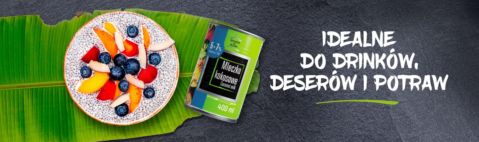 Mleczko kokosowe idealne do zup, deserów. House of Asia