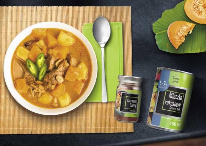 Wołowina massaman curry z mleczkiem kokosowym
