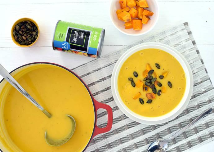 Aromatyczna zupa dyniowa z mleczkiem kokosowym house of asia