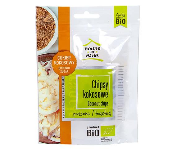 Chipsy kokosowe karmelowe BIO 40 g House of Asia