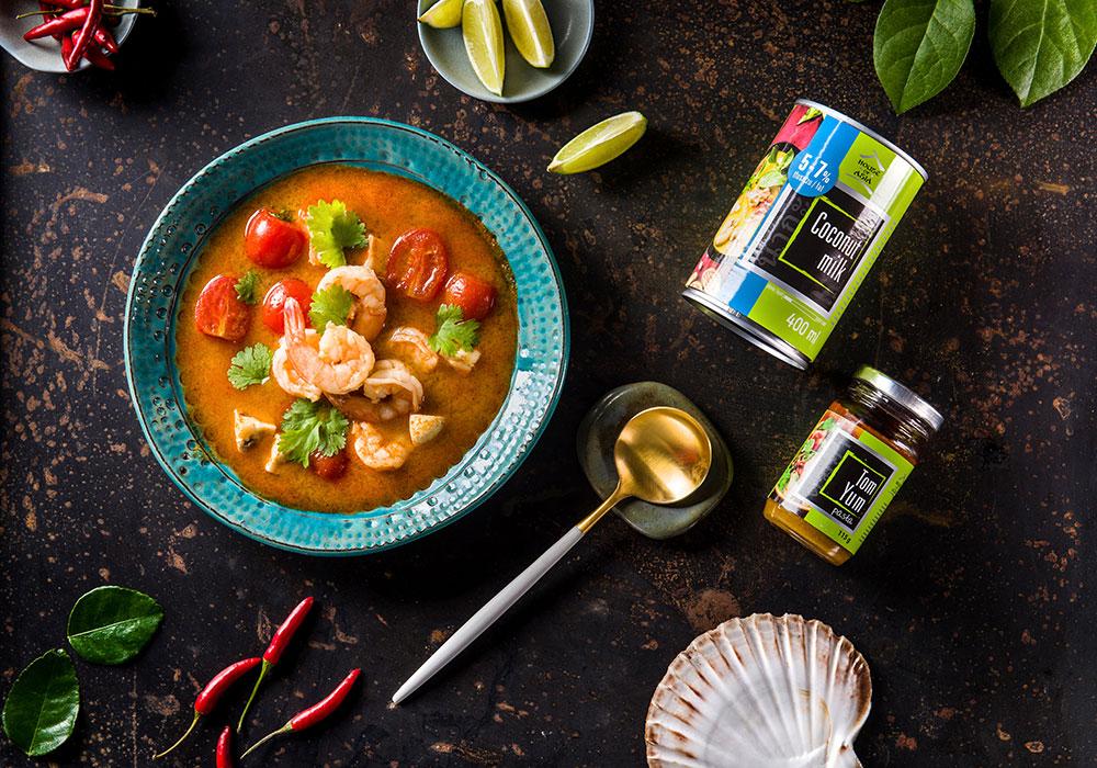 Zupa tajska Tom Yum z krewetkami house of asia