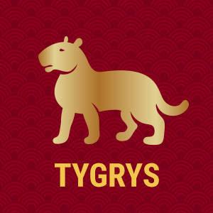 Horoskop chiński znak zodiaku tygrys