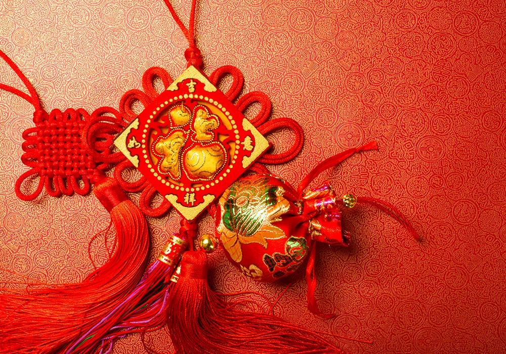 Chińskie symbole szczęścia węzeł miłości House of Asia