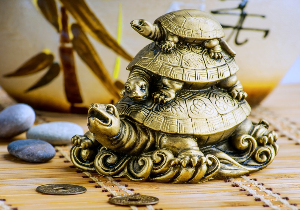 Chińskie symbole szczęścia żółw House of Asia