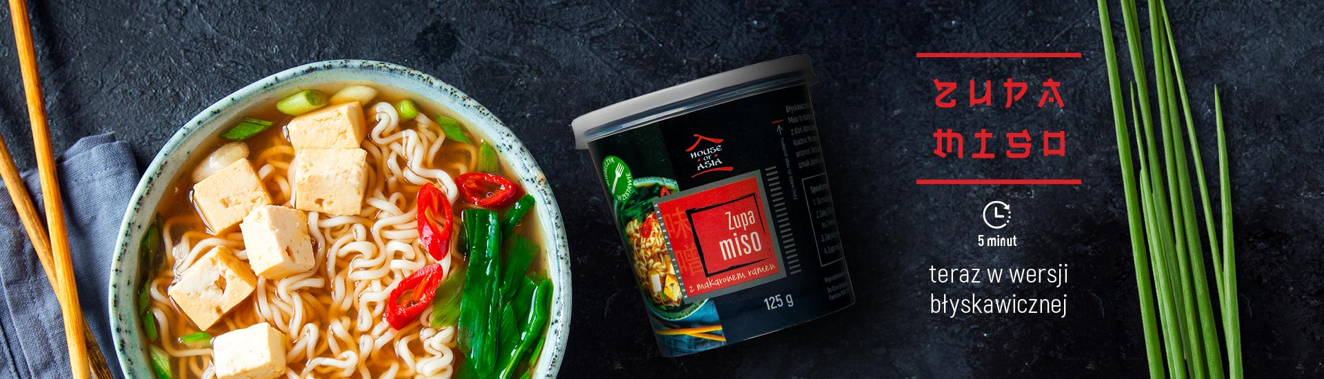 Zupa Miso z makaronem Ramen