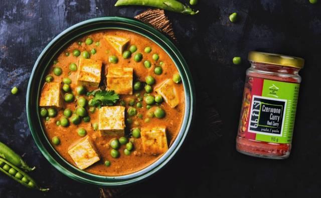 Curry z tofu i zielonym groszkiem House of Asia