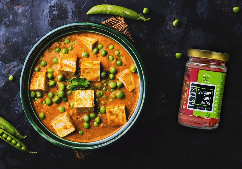 Curry z tofu i zielonym groszkiem House of Asia