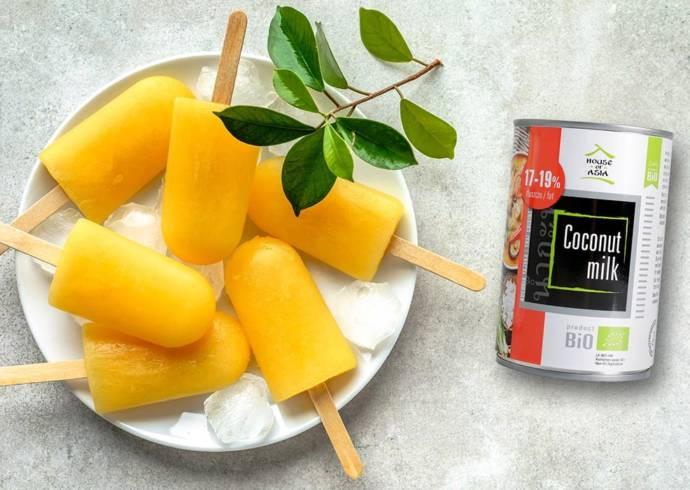 Wegańskie lody kokosowe z pulpą mango House of Asia