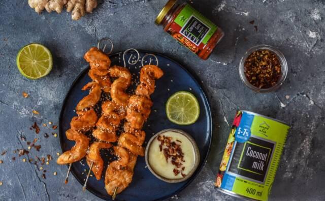 Kurczak satay z sosem imbirowym Czarna Wisienka House of Asia