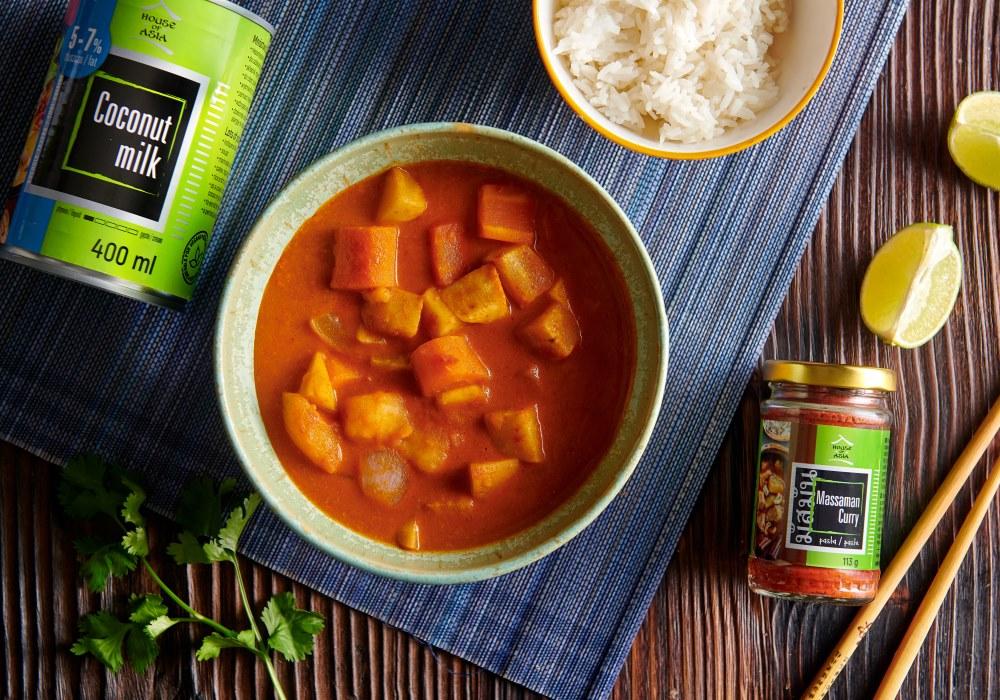 Warzywne massaman curry House of Asia
