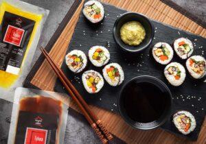 Wegańskie sushi maki z tykwą i rzodkwią marynowaną House of Asia