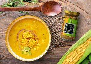 Krem z kukurydzy z żółtym curry